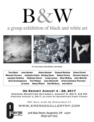 Emerge Gallery B&W show